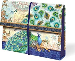 Punch Studio Royal Peacock Expandable Accordion File