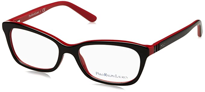Ralph Lauren POLO 0PP8527 Monturas de gafas, Black Red, 49 para ...