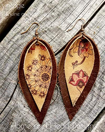 - Genuine leather, antique, vintage, western leather, vintage roses, floral leather, tan, cowhide, boho, chocolate, cowgirls, Joanna Gaines, natural, sensitive ears, country girl, paisley