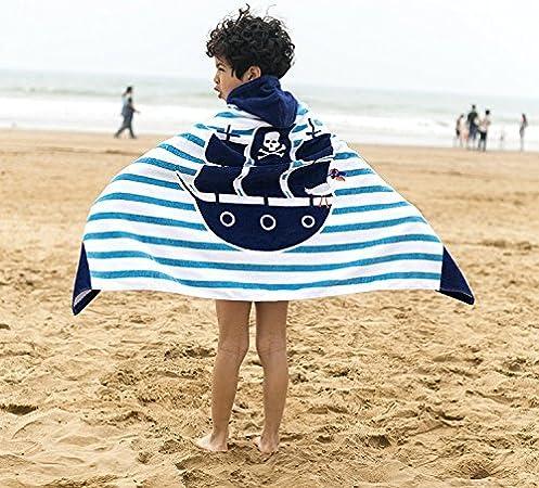 con distintos dise/ños Amkun Toalla de playa con capucha en forma de poncho grande para la playa para ni/ños y adolescentes de 4 a 14 a/ños ba/ño o surf