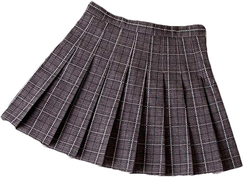 ZhuiKunA Mujer Escocesa Mini Faldas Kilt Escocesa Plisada de ...