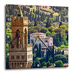 3dRose Danita Delimont - Florence - Bell Tower and Houses, Florence, Tuscany, Italy - 15x15 Wall Clock (DPP_313743_3)