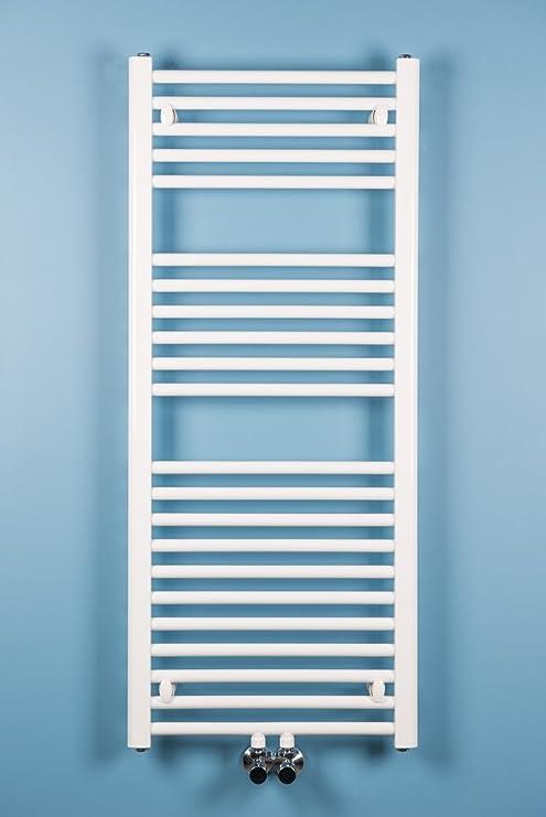 Karlskrona - Radiador toallero de color blanco: Amazon.es: Hogar