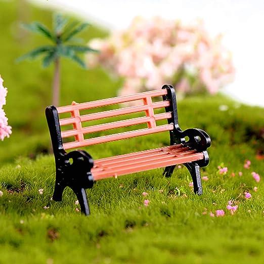 Decoración en miniatura para jardín – mejor decoración de arte para plantas al aire libre interior Creative Mini Park Bench Modelo Miniatura Paisaje decorativo Ornamento – L: Amazon.es: Hogar