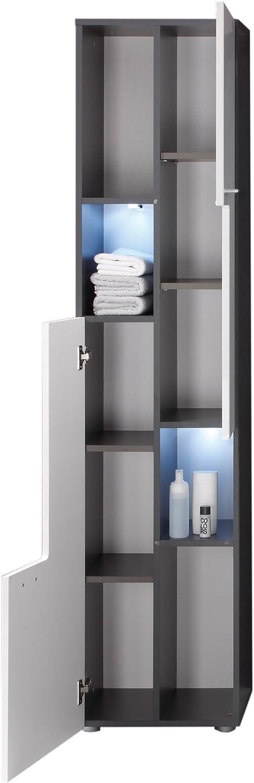High Gross Entire Front White Bathroom Cabinet Storage Dripex Bathroom Cabinet Floor Standing Tall Bathroom Storage Unit Cupboard 185 31 30cm