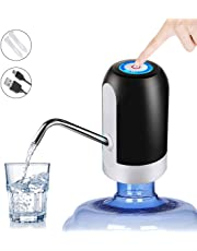 HUAPPNIO Water Bottle Pump Electric Portable USB Charging for 5 Gallon Water Bottle with 1200MAH Battery Powered Black