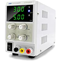 DC Bench Power Supply Variable 30V 5A 3-Digital Adjustable Switching Regulated Lab Power Supply Digital, with Alligator…