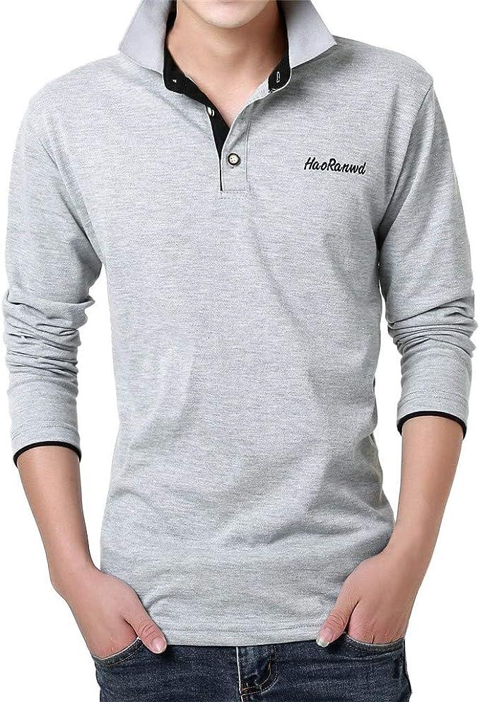 Dtuta - Camisa Polos para Hombre, Manga Larga, Manga Larga ...