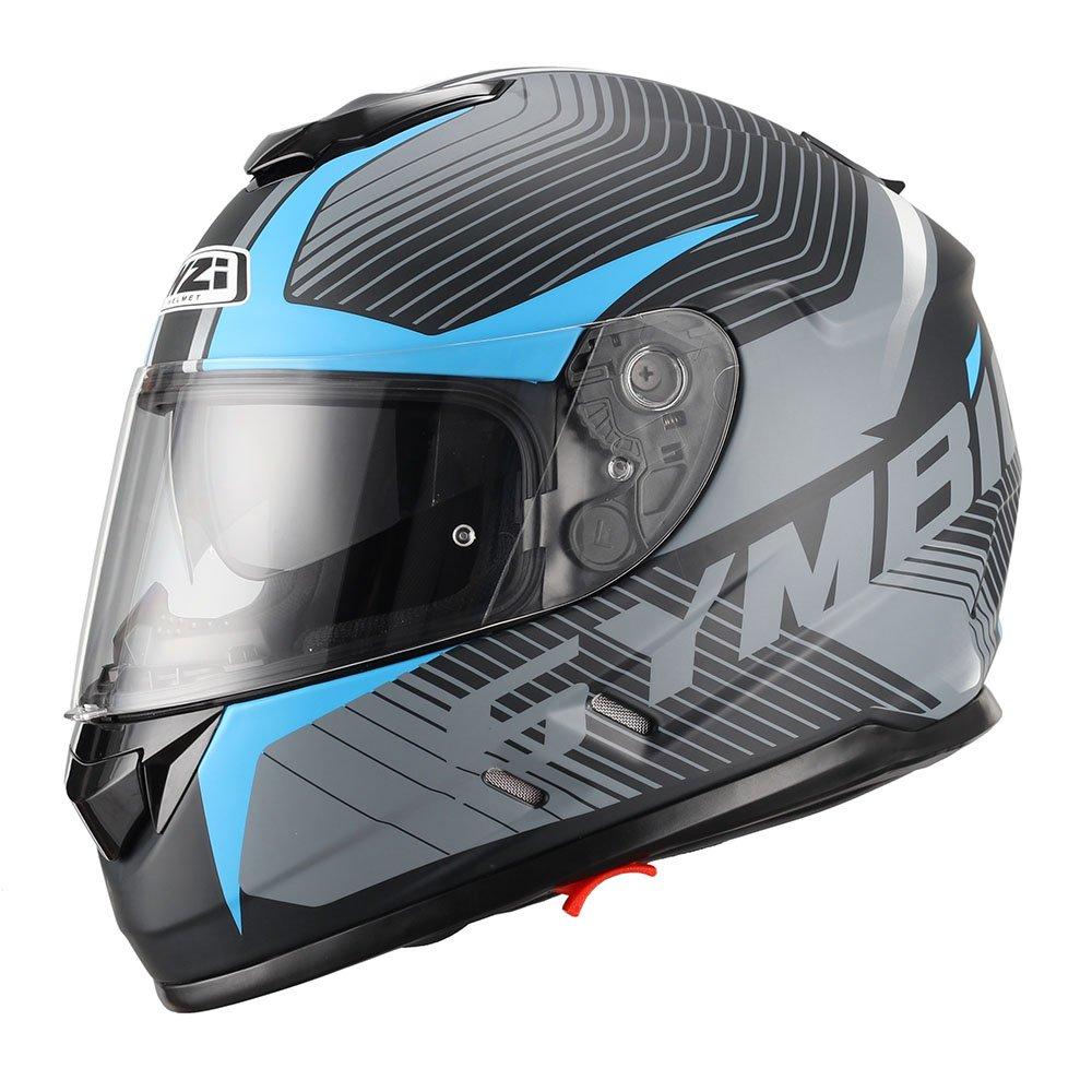 NZI Symbio Duo Graphics Casco De Moto(Tera Negro Azul,X-Grande)