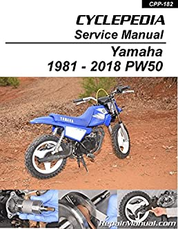cpp 182 p pw50 yamaha motorcycle printed service manual cyclepedia rh amazon com Yamaha PW50 Training Wheels Pink PW50