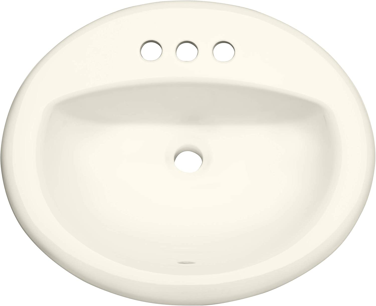 """PROFLO PF20174BS PROFLO PF20174 20-1/2"""" Self Rimming (Drop-In) Oval Bathroom Sink - 3 Holes Drilled"""