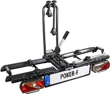 Eufab Poker-F Fahrradheckträger für Anhängerkupplung für 2 Fahrräder