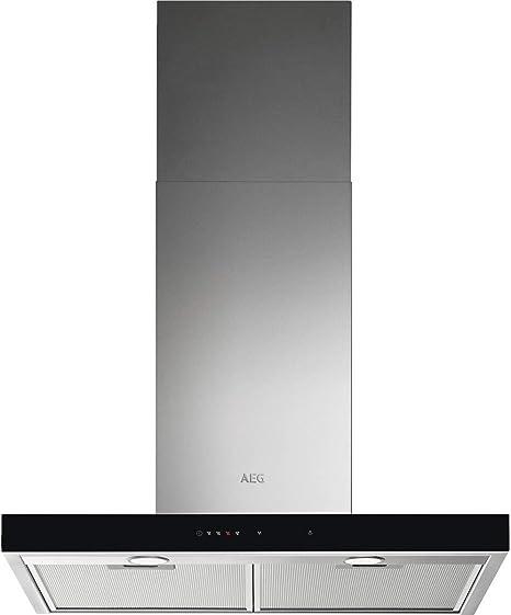 AEG DBE5761HG Campana extractora de pared, 70 cm, 3 niveles de portencia + intensiva, Función Brisa, Potencia máxima 700 m3/h, 54 dB(A), Luces LED, Sincronización automática con placa, Inox,Clase A: Amazon.es: Grandes