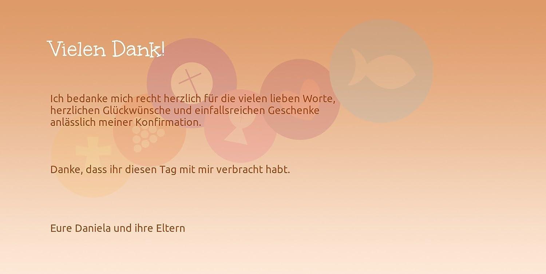 Kartenparadies Dankeskarte Konfirmation Konfirmation Danke Danke Danke bunte Elemente, hochwertige Danksagung für Konfirmationsfeier inklusive Umschläge   100 Karten - (Format  215x105 mm) Farbe  flamingoOrangerot B01N5V96F7 | Primäre Qualität  | Zu einem  0fc115
