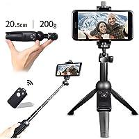 ACUMSTE Selfie Stick Bluetooth, Palo Selfie Trípode con Control Remoto y 360° Rotación Extensible Monopod Plegable Universal para iPhone/Samsung Galaxy/Huawei/HTC/Xiaomi y Otros Teléfonos Inteligentes
