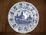 Vintage Myott Meakin / Alfred Meakin God Bless Our House Throughout 1988 Blue Calendar Plate Staffordshire England