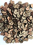 NIGHT-GRING 400pcs Rustic Wooden Love Heart Wedding Table Scatter Decoration Crafts Children's DIY manual patch