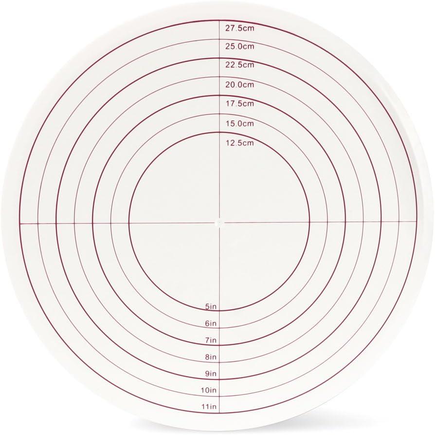 SveBake Plateau /à g/âteau /Ø 30,5 cm Pr/ésentoir /à g/âteau avec Lock Interrupteur et /échelles marque sucre en dessins pr/ésentoir /à g/âteau rotatif pour p/âtisserie p/âtisseries