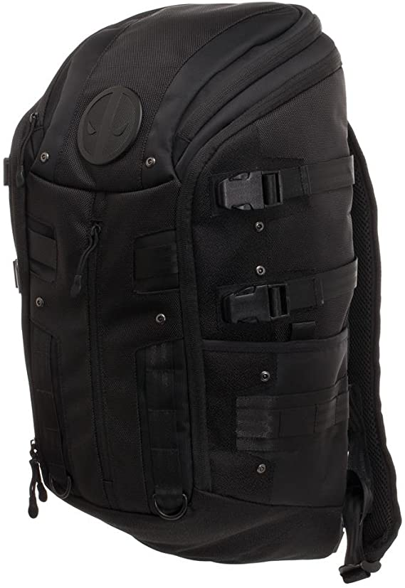 Deadpool Tactical Backpack - Black Tactical Backpack w. Deadpool Logo