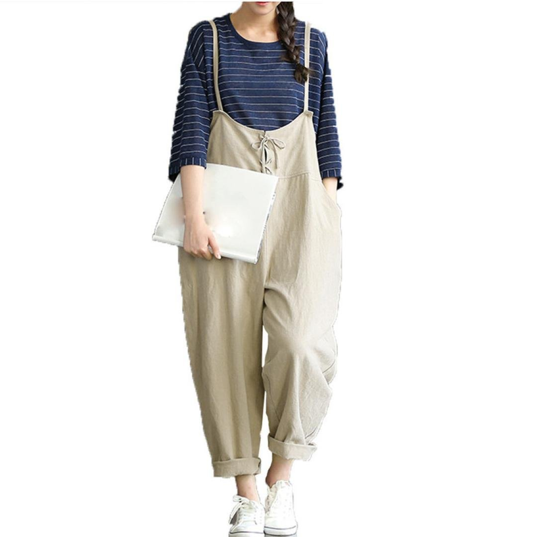 Gillberry Womens Loose Jumpsuit Strap Belt Bib Pants Trousers Casual Overall Pants WY5462