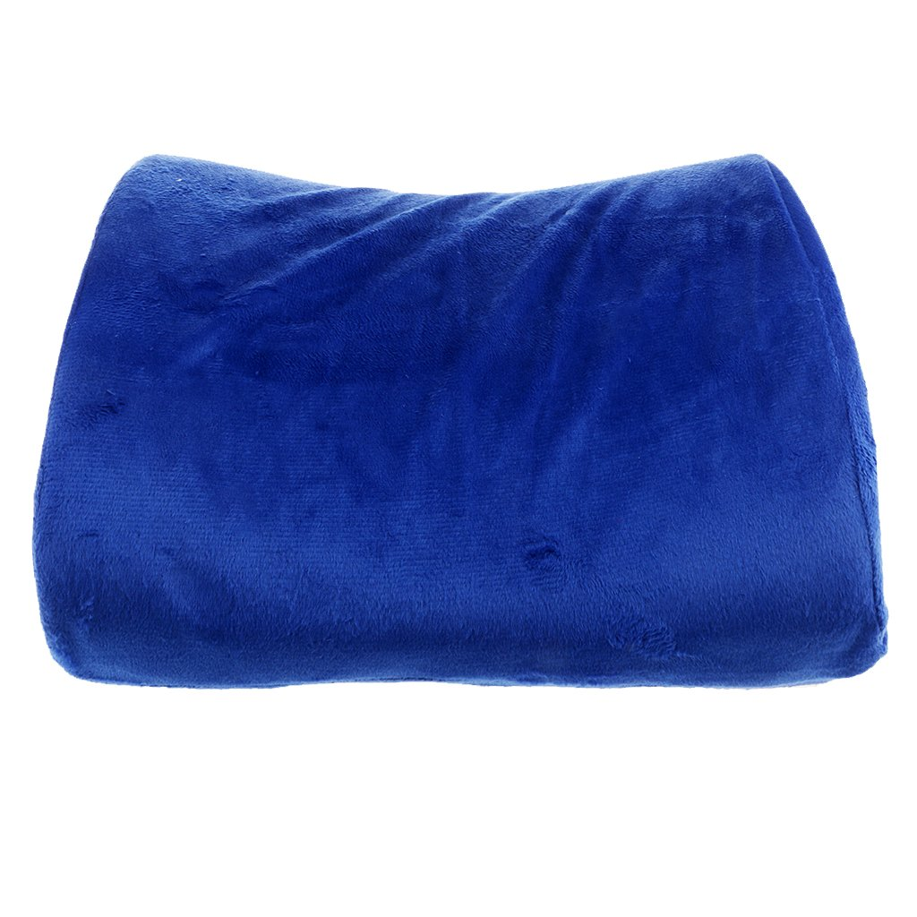 MagiDeal Lumbarクッションサポート旅行枕メモリフォームカーシートブラック ブルー 0579033820007USA B07CLPR1MF  ブルー