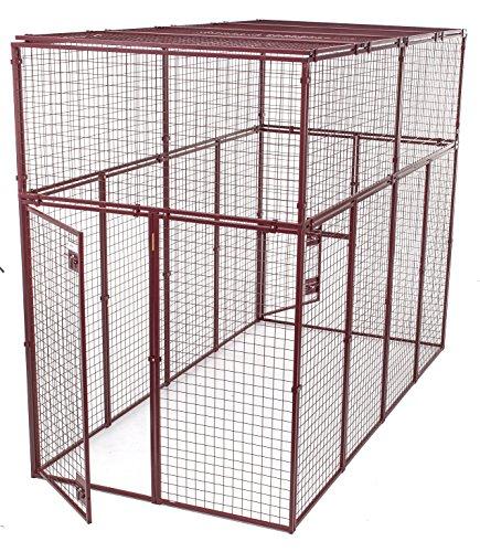 (Animal House Heavy Duty Modular Pet Kennel (7.5' Hx10'Lx5'W) 244.2 lbs)