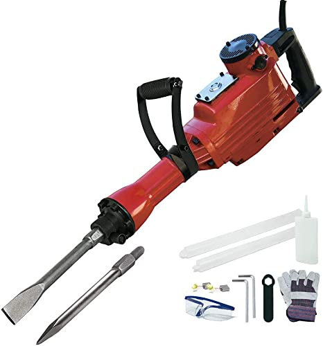 Toolman 14.0A Electric Demolition Jack Hammer concrete breaker with case, goggles and gloves LT5105