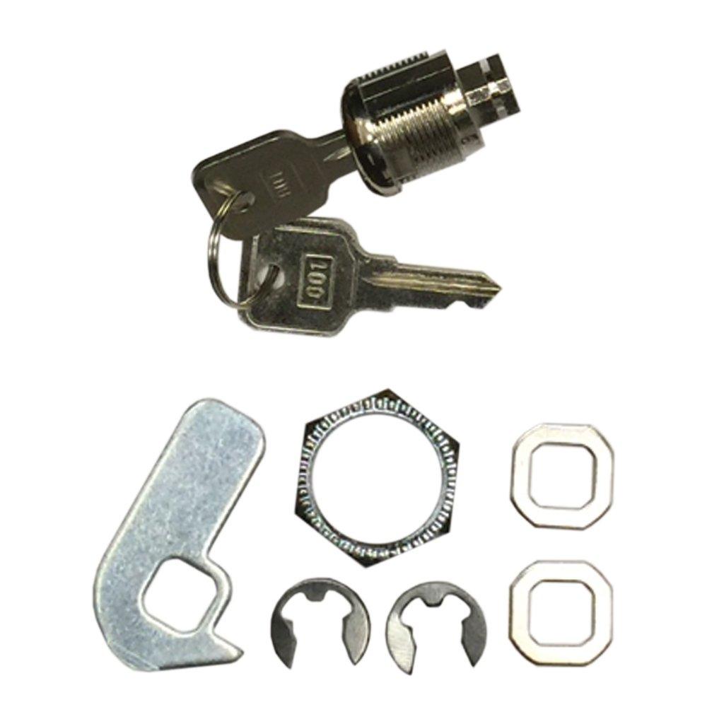 Lock an keys for SOLUX, Point of Sales POS System Cash Drawer, Steel Heavy Duty, RJ11 RJ12 Key-Lock, 5 Bills 8 Coins removable Tray, Black