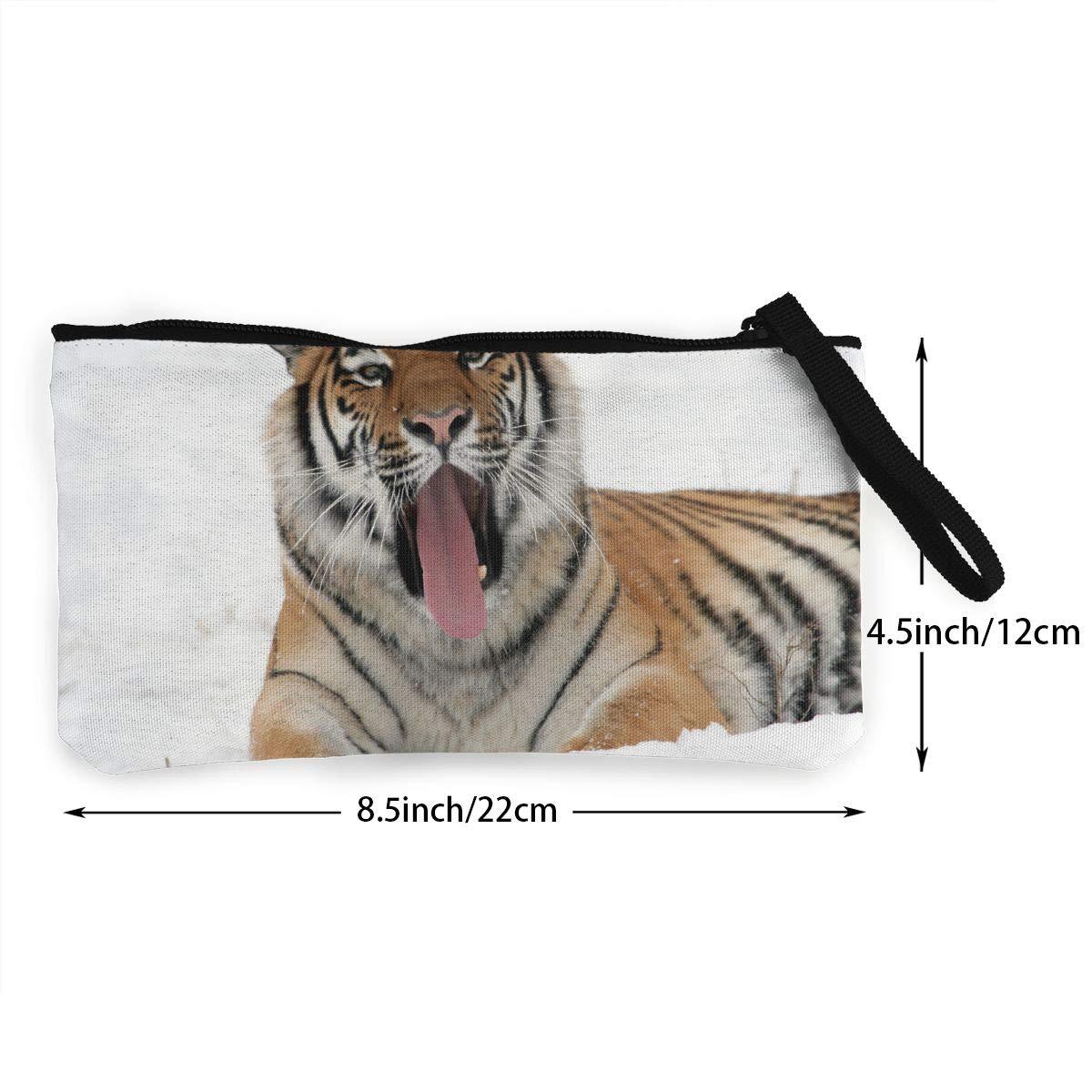 Fjhufe Tiger-yawning-snow-adult-reclining-zoo-wintercoin Bag Cute,useful,unisex,stylish,good Quality