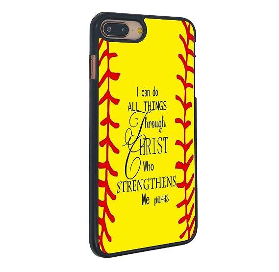 Amazon Com Iphone 7 Plus Case Boslive Yellow Softball