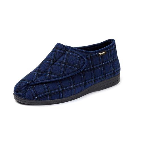 Sandpiper - Zapatillas de estar por casa de Lona para hombre, color marrón, talla 47