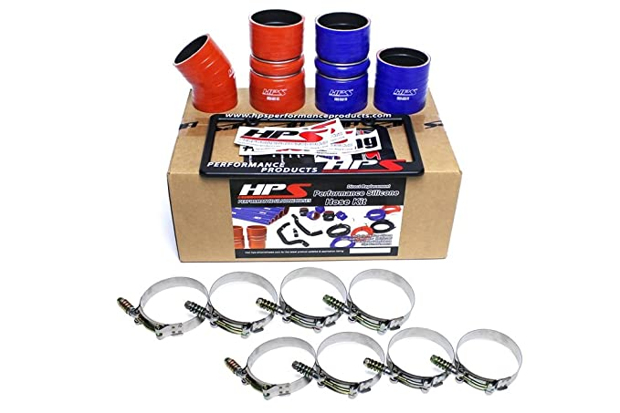 Amazon.com: 03-04 Ford F250 Superduty 6.0L PowerStroke Diesel HPS High Temp Reinforced Silicone Intercooler Hose Boots Kit: Automotive