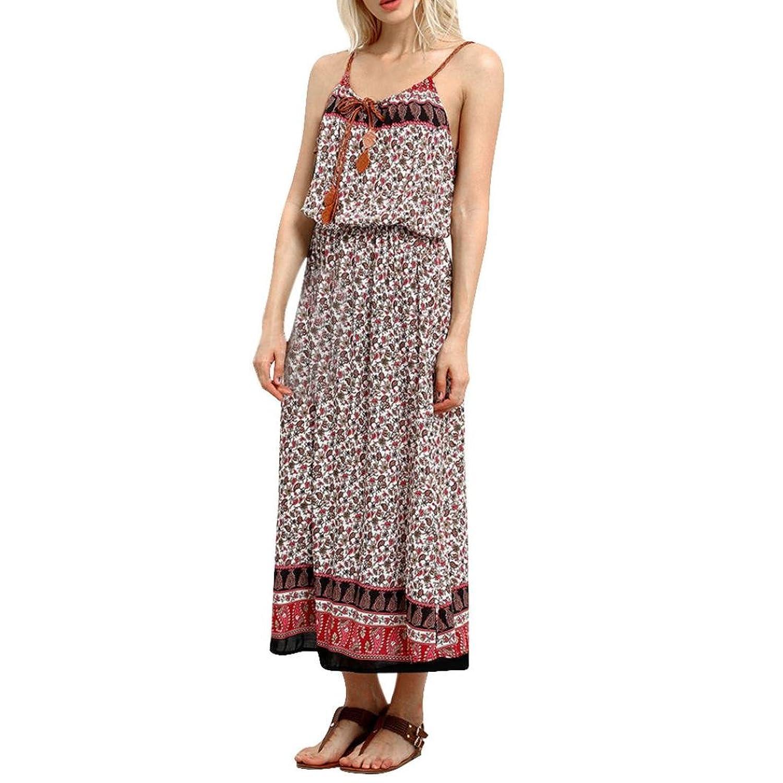 Besde Women Ladies Summer Boho Long Dress Beach Dress Sundress