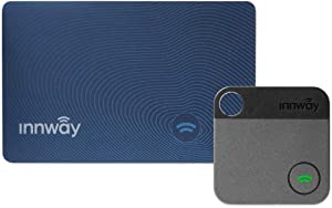 Innway Card + Tag - Ultra Thin Bluetooth Tracker Finder. Find Your Wallet, Bag, Backpack, Keys, Laptop, Tablet (Blue Card+Tag)