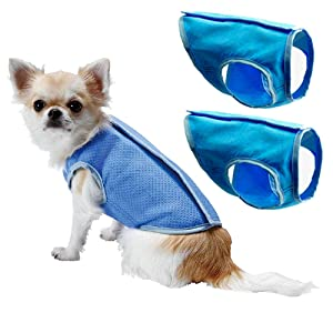 Dog Cooling Vest,Swamp Cooler Jacket for pet,Pet Cooling Coat for Small and Medium Dogs 2pack