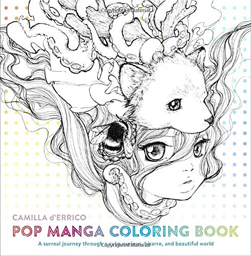 Pop-Manga-Coloring-Book-A-Surreal-Journey-Through-a-Cute-Curious-Bizarre-and-Beautiful-World