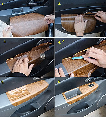 Moyishi Wood Grain Vinyl Sticker Decal Roll Car Interior