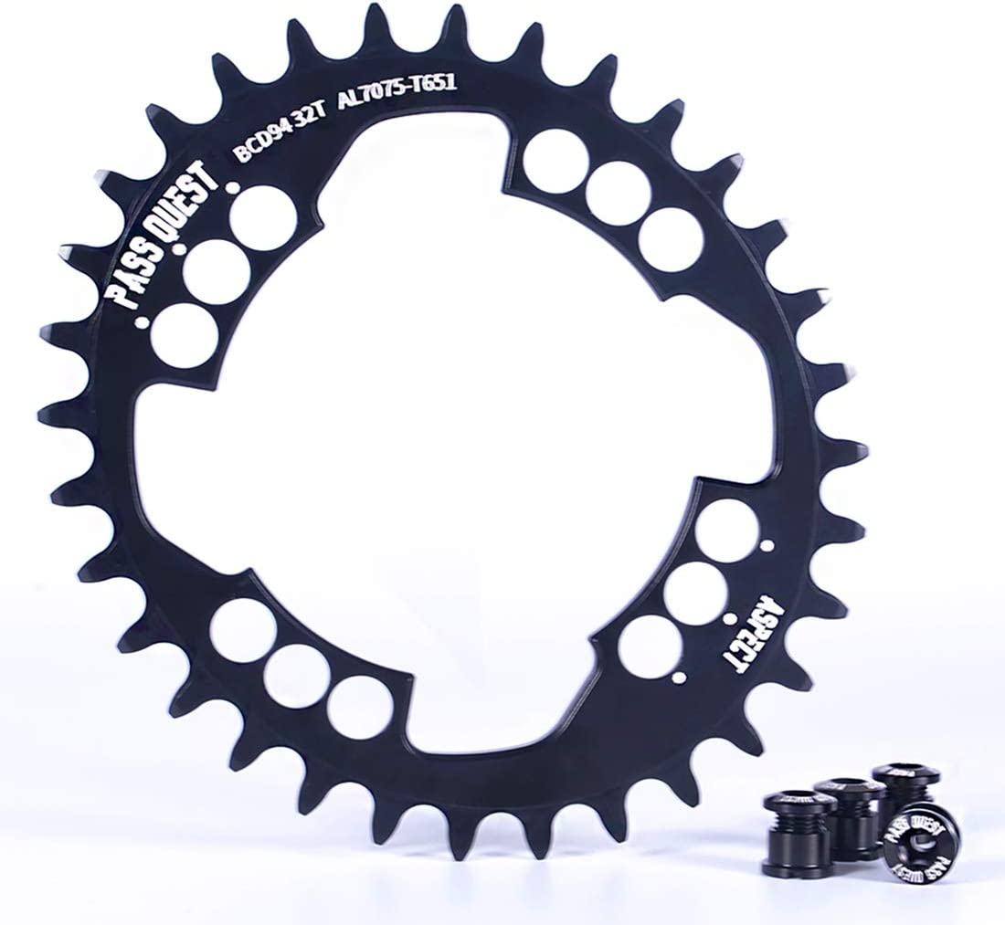 PASS QUEST Oval 94BCD MTB Narrow Wide Chainring 32T/34T/36T/38T Bike Bicycle Chainwheel/Chain Wheel Deore XT Crankset