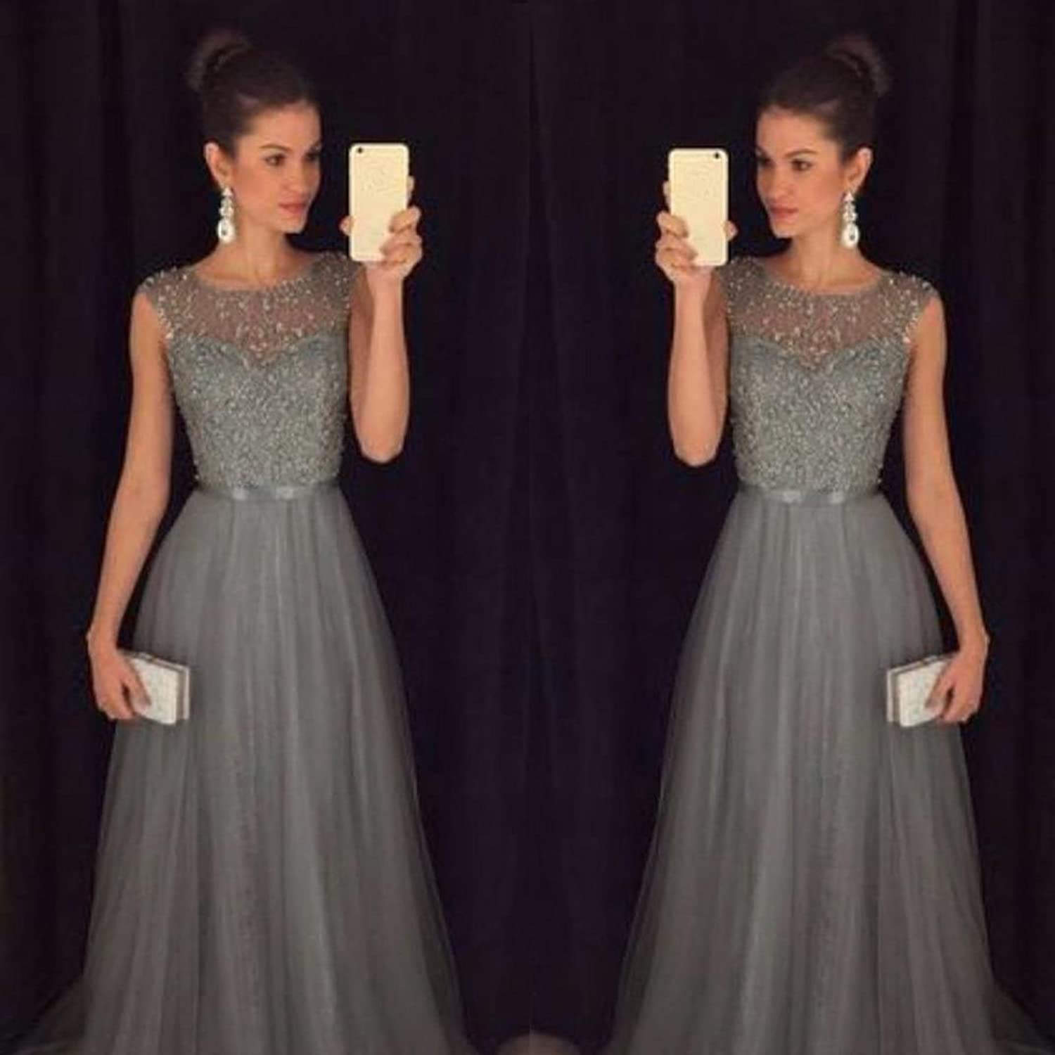 Hunzed Women Dress, Sexy {Wedding Dress}  Casual {Bridesmaid Ball Prom Gown Dresses}  {Long Evening Party Dress}  at Amazon Womens Clothing store: