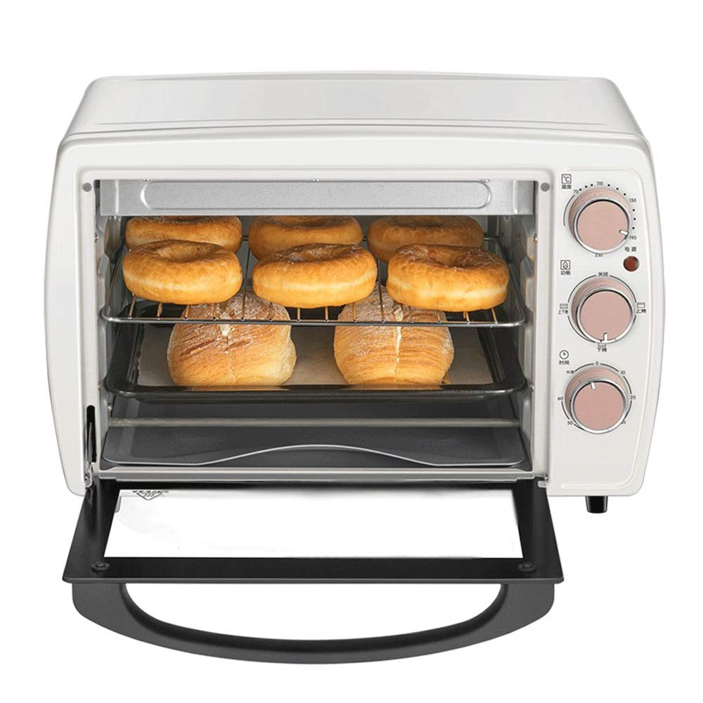 LQRYJDZ Mini 20 liters Toaster Oven with Timer-Toast Broil Settings, 1200W Hot Convection Oven,Toast, Bake,Pizza, Nonstick Interior ,Includes Baking Pan,Grill (Color : White, Size : 4429.533cm)