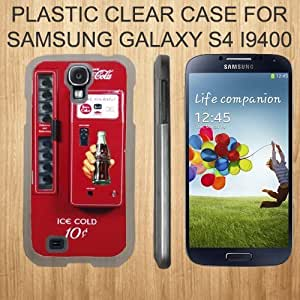 COCA COLA VENDINGG Custom Case for Samsung Galaxy S4 Slim Plastic snap Cover CLEAR - (Ships from CA)
