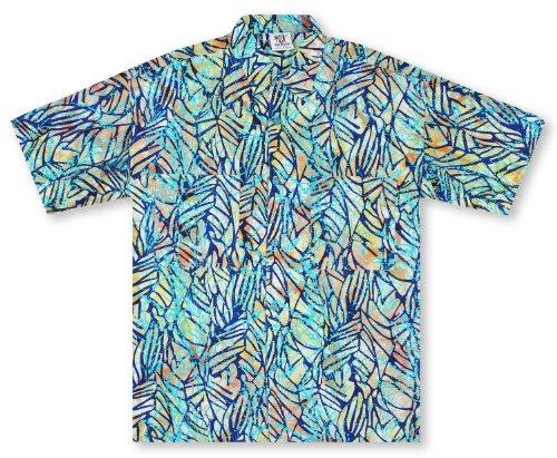 Leaves Mens Aloha Shirt - 4