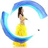 "KIKIGOAL 2pcs 2.5x0.9M/98.43""x35.43"" Multi-Color Dance Silk Veil Poi"