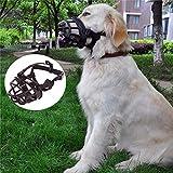 JYHY Soft Silicone Rubber Basket Dog Muzzles-Adjustable Breathable Biting Chewing Barking Training Dog