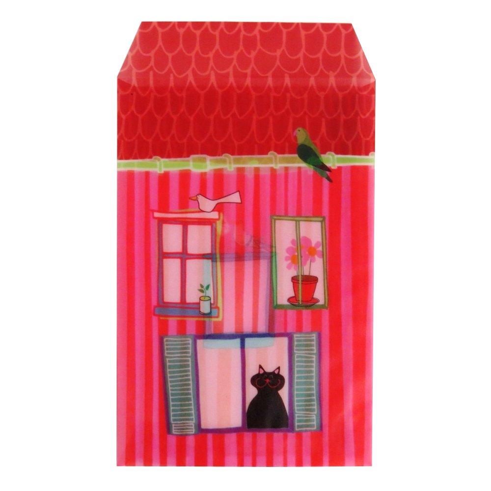 Pergament Papier Mini Brieftasche Stil bebilderte Umschlä ge –  Katze auf A, –  Pack von 10, 157 mm x 107 mm Tiger Stores