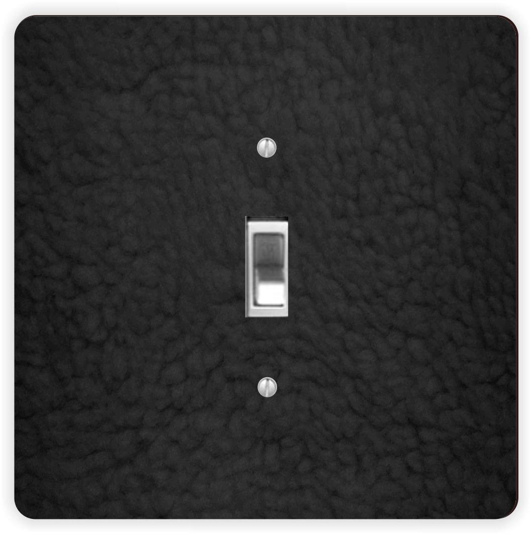 Rikki Knight Black Sherpa Fleece Look-Single Toggle Light Switch Plate