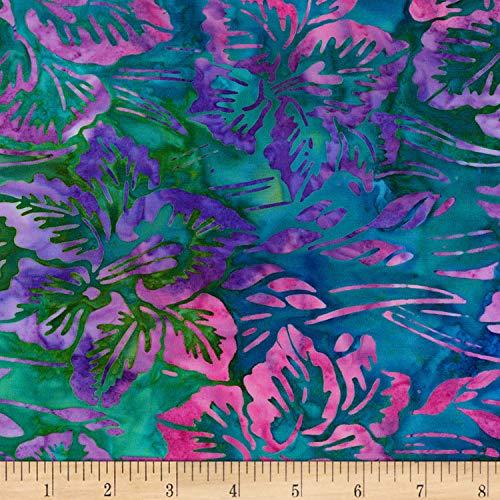 - Robert Kaufman Bright Blooms Artisan Batiks Fabric, Jewel, Fabric By The Yard