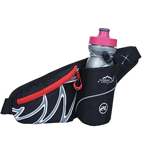53d703e8a8 YinRiver Sporty Travel Waist Bag with Water Bottle Holder(Not Include The  Bottle)