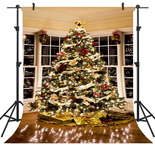 OUYIDA 6X9FT Christmas Tree Decorating Seamless Pictorial cloth Customized photography Backdrop Background studio prop CEM02B by OUYIDA
