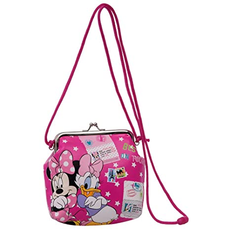 Disney Minnie y Daisy Bandolera Monedero, Color Rosa: Amazon ...